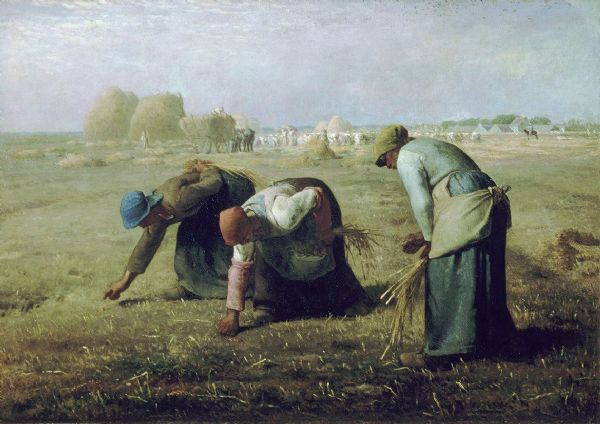 Millet, Jean-Francois: The Gleaners. Fine Art Print/Poster. Sizes: A4/A3/A2/A1 (00242)